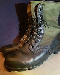 Vintage Canvas and Leather military boots