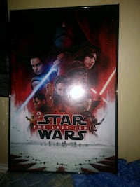 Star Wars The Last Jedi movie poster with black wooden frame Muskegon, 49441