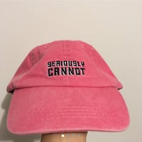 'seriously cannot' embroidered red cap hat Toronto