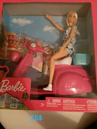 barbie on scooter