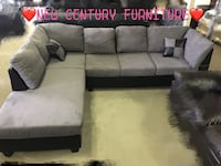 Brand new 2 pcs sectional with pillows Norcross