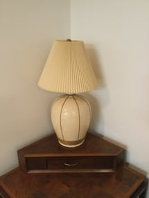 Large table lamp.