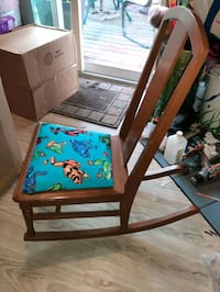 New Reapolstered KIDS FROG ROCKING CHAIR