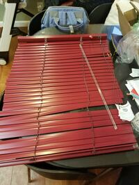 Red brand new blinds in the box Baldwin, 11510