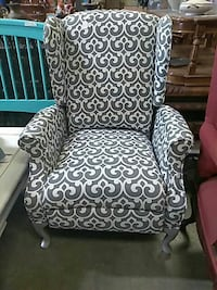 black and white fabric sofa chair