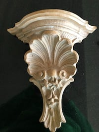 Beautifully carved shell wood shelves. Chicago, 60646