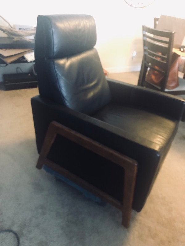 Magnificent West Elm Spencer Wood Framed Leather Recliner Gmtry Best Dining Table And Chair Ideas Images Gmtryco