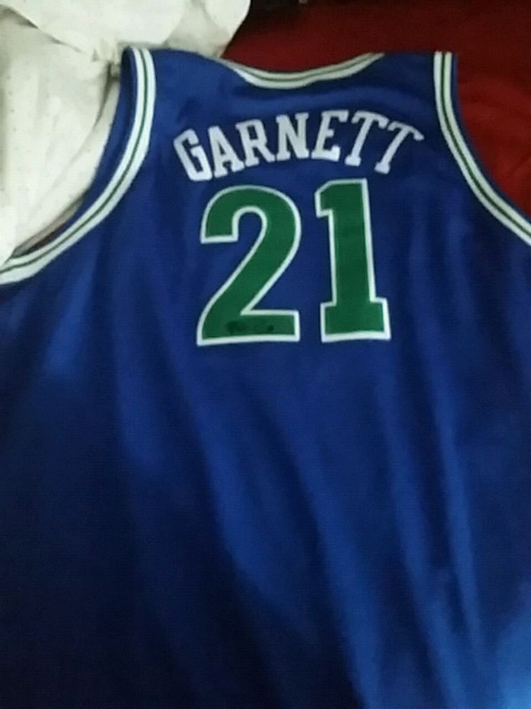 2a2093d23133 Used blue and green 21 Kevin Garnett Minnesota Timberwolves basketball  jersey for sale in Oshawa - letgo