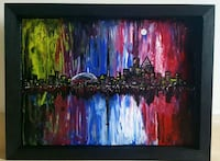 16x12 inches Toronto skyline fluid painting  Mississauga, L5M 3G6
