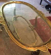 Coffee and End Table - Gold n Glass Greensboro