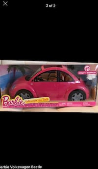 Barbie doll with Volkswagen Beetle