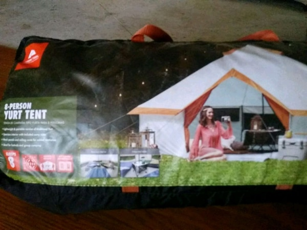 fef1799ac2 Used Ozark Trail 8 person yurt tent and 2 air matresss for sale in ...