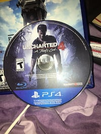 Uncharted 4 PS4 game disc Memphis, 38125