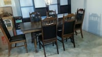 rectangular brown wooden table with six chairs dining set Scottsdale, 85257