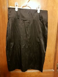 Ladies black satin high waisted skirt  Toronto, M6C 1C5
