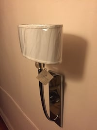 STAINLESS STEEL WALL SCONCE NEW