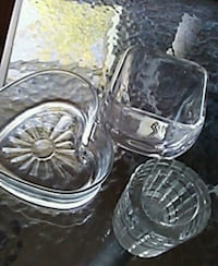 two clear cut glass bowls Lubbock, 79407