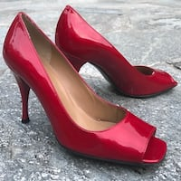 Stuart weitzman red gloss peep toe , NEW,made in Italy, size 8.5 Richmond Hill, L4C 0L5