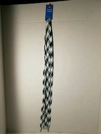 White Navy Blue Thick Shoe Sneaker Laces