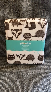 NEW Forest Woodland Animals Twin Sheet Set Hedgehog Raccoon Badger