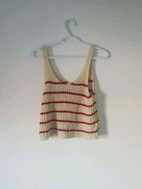 white and red stripe tank top Montreal, H1T