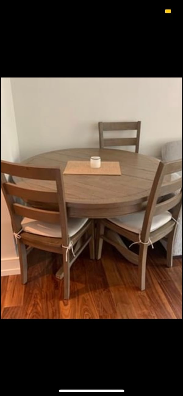 Three Wooden Dining Chairs 1