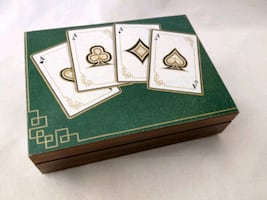 Wooden box for playing cards | wooden box