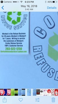refuse and recycling dump runs and cleanups available also Westport