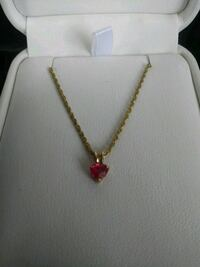 Ruby pendant necklace Big Lake