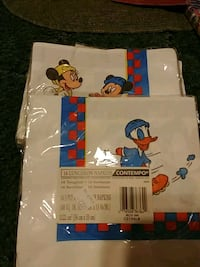 white and blue Mickey Mouse print textile Sulphur, 70663