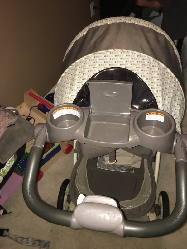 Grace cream gray brown and light green stroller