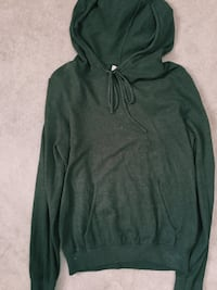 Forest green thin knit hoodie