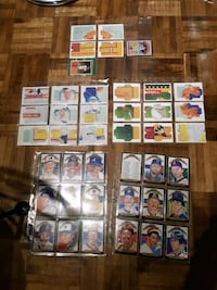 Baseball cards front and back
