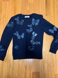 Valentino butterfly embroidered sweatshirt size s