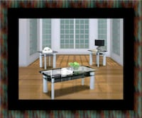 3pc glass coffee table Forestville