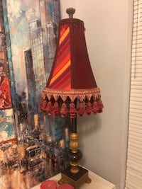 Beautiful burgundy tasseled table lamp. Perfect condition! Purchased for $109.00. Germantown, 20876