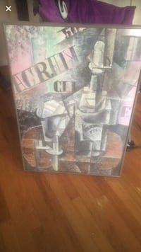 bottle of wine on top of table sketch metal framed picture  Cherry Hill, 08034