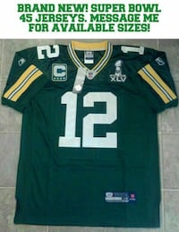 Aaron Rodgers super bowl 45 Packers jersey-new Waunakee, 53597