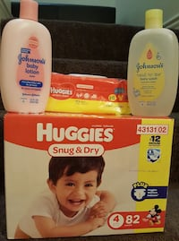 baby's assorted toiletries