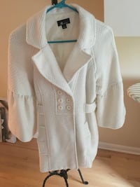 White, Jacket, Fall, Fitted, Buttons, AB Studio, Winter, Cost, Name Brand, Size 12, Pockets, Fashion, Style, Female Robbinsdale, 55422