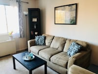 (Arlington) Comfortable, modern couch and chair VIENNA