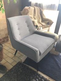 Mid Century soft gray chair McLean, 22102