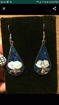 Taxco mexico stamped silver earrings