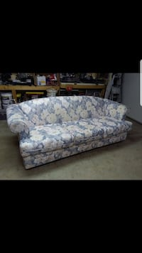 white and blue floral couch Surrey, V4N