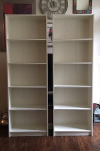 IKEA Billy Bookcases, (2) color white  Leesburg, 20175