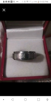 Stainless Steel spin ring size 7.5!