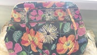 black, pink, and green floral print bag Schaumburg, 60193
