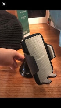 Black and gray phone holder