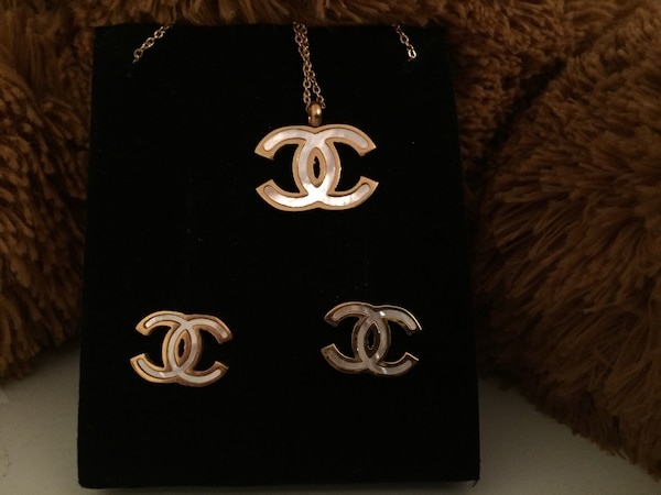 Chanel Necklace And Earring Set