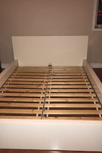 Ikea Malm white double bed  with slatted bed base + mattress Vaughan, L6A 5R3